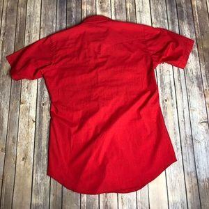 Vintage Shirts - Vintage HBarC California Red Ranchwear Shirt Top